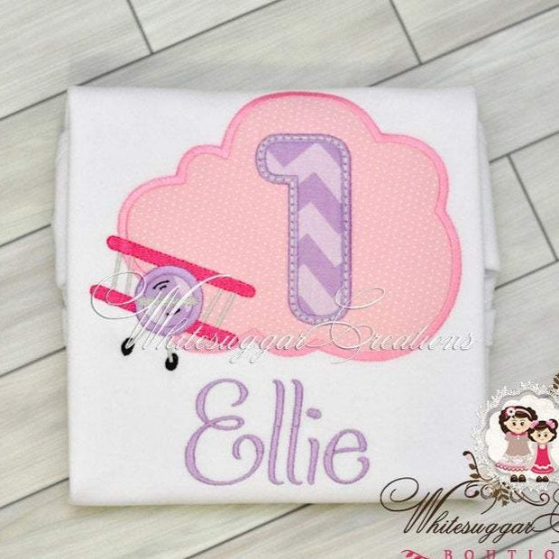 Airplane Birthday Girl Shirt
