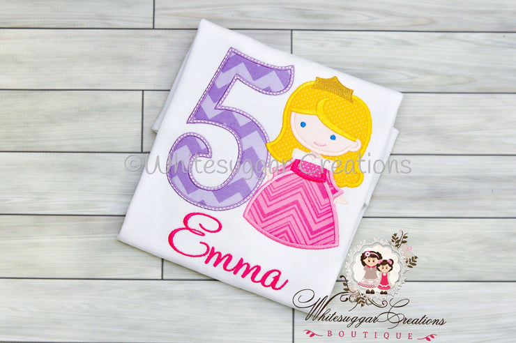Princess as Sleeping Beauty Birthday Shirt Whitesuggar Creations Boutique