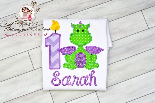 Girl Dragon Birthday Shirt