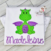 Girl Dragon Birthday Shirt Whitesuggar Creations Boutique