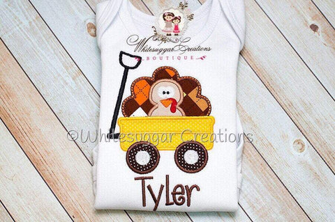 Thanksgiving Turkey Embroidered Shirt or Bodysuit for Boys