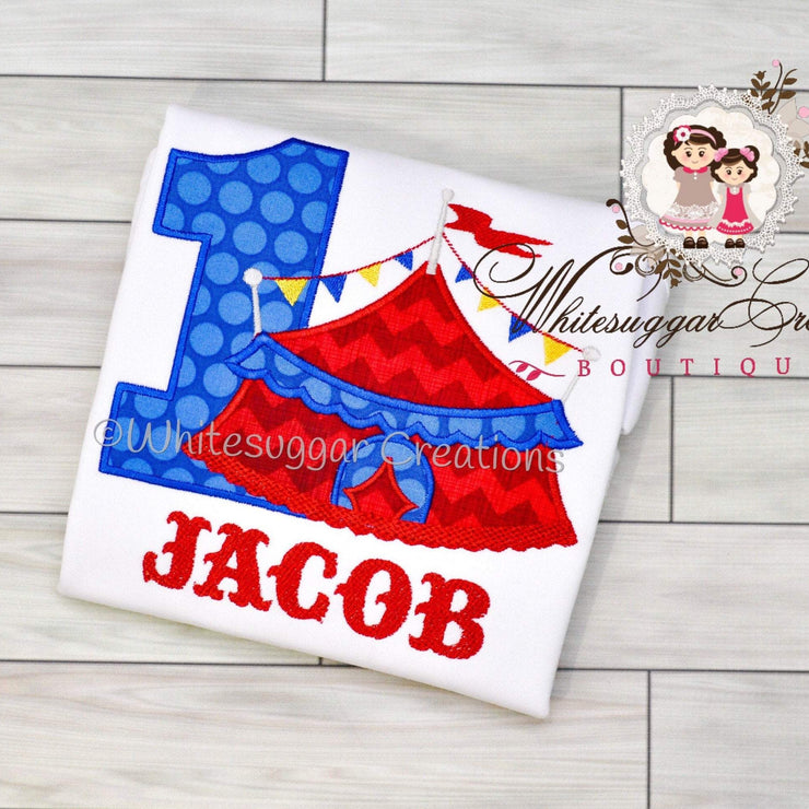 Circus Birthday Bodysuit Whitesuggar Creations Boutique