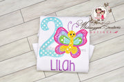 Butterfly Birthday Girl Shirt