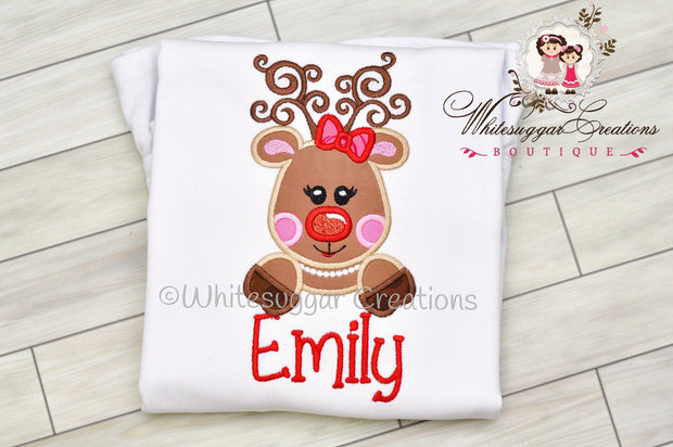 Reindeer Christmas Shirt Whitesuggar Creations Boutique