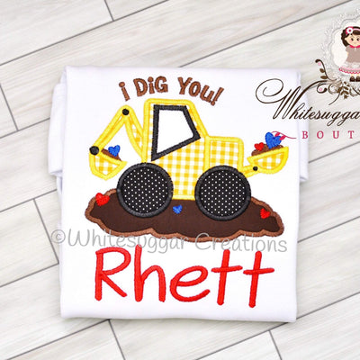 Baby Boys Bulldozer Shirt