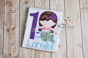 Mermaid Birthday Embroidered Shirt Whitesuggar Creations Boutique