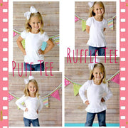 Flower Roses Initial Girl Shirt Whitesuggar Creations Boutique