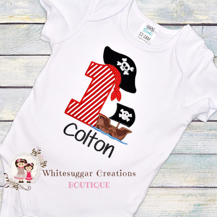 Pirate Birthday Shirt For Boys Whitesuggar Creations Boutique