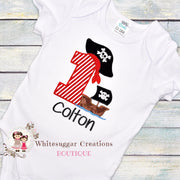 Pirate Birthday Shirt Whitesuggar Creations Boutique
