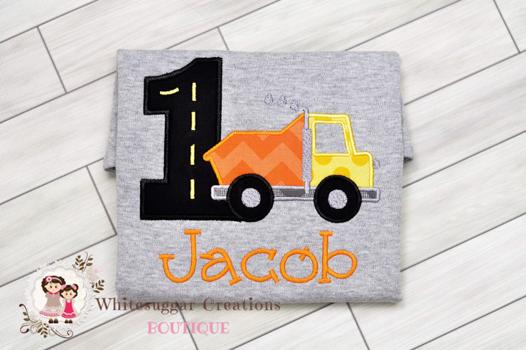 Construction Birthday Boy Shirt Whitesuggar Creations Boutique