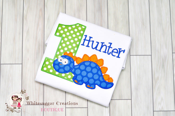 Dinosaur Birthday Shirt for Boys Whitesuggar Creations Boutique
