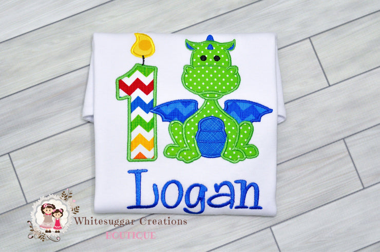 Green Dragon Boy Shirt Whitesuggar Creations Boutique