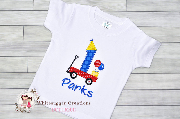 Wagon Birthday Boy Shirt Whitesuggar Creations Boutique