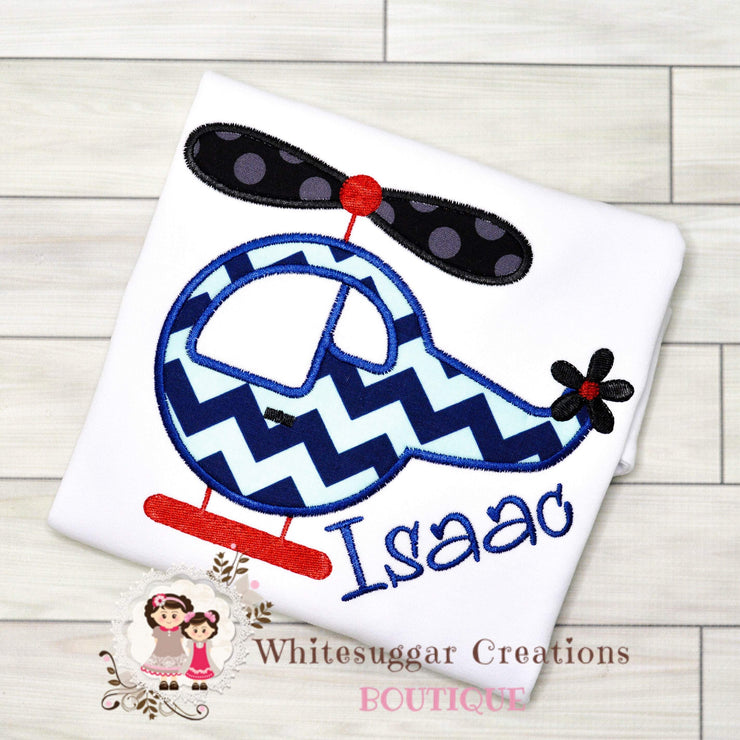 Boys Helicopter Shirt Whitesuggar Creations Boutique