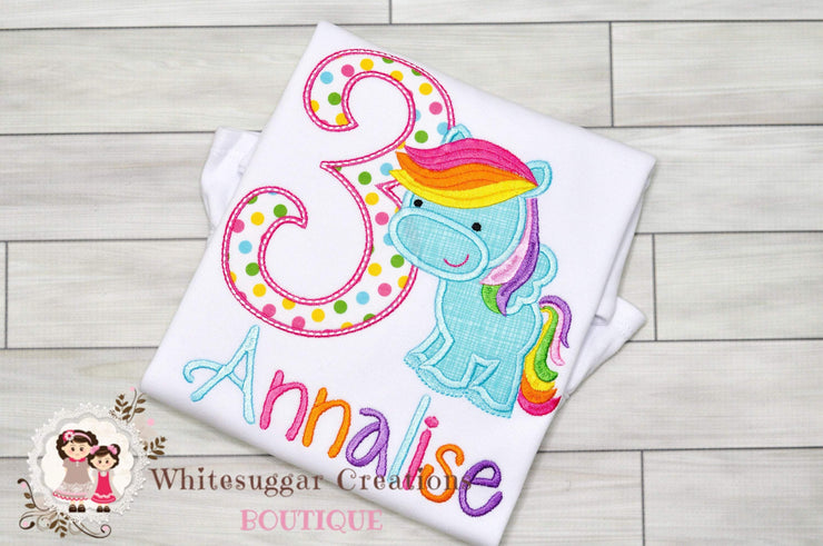 My Little Pony Birthday Shirt Whitesuggar Creations Boutique