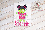 Halloween Zombie Girl Shirt Whitesuggar Creations Boutique