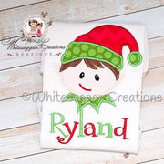 Christmas Elf Shirt for Boys Whitesuggar Creations Boutique