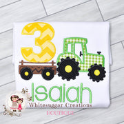 Tractor Birthday Embroidered Shirt for Boys Whitesuggar Creations Boutique