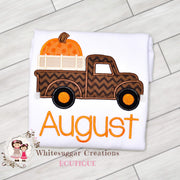 Old Truck with Pumpkin Shirt Whitesuggar Creations Boutique