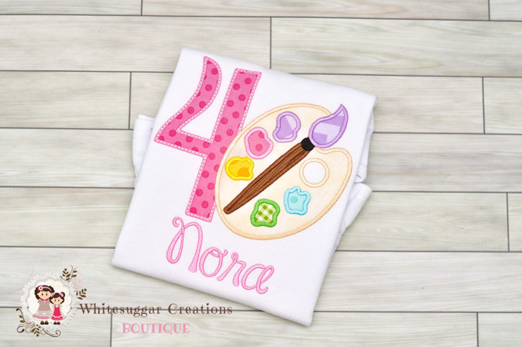 Art Palette Birthday Shirt Whitesuggar Creations Boutique