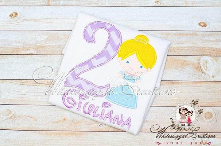 Girls Cinderella Birthday Shirt Whitesuggar Creations Boutique