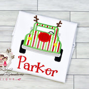 Christmas Truck Shirt with Antlers Bodysuit Whitesuggar Creations Boutique