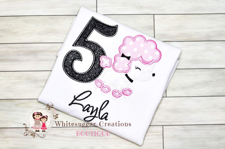 Poodle Birthday Girl Shirt Whitesuggar Creations Boutique