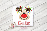 Christmas Reindeer with Lights Shirt Whitesuggar Creations Boutique