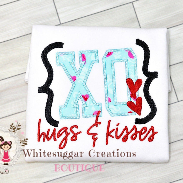 Valentine's Day XO Love Shirt Whitesuggar Creations Boutique