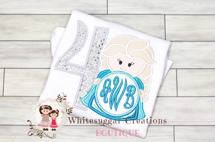 Ice Queen Elsa Birthday Shirt Whitesuggar Creations Boutique