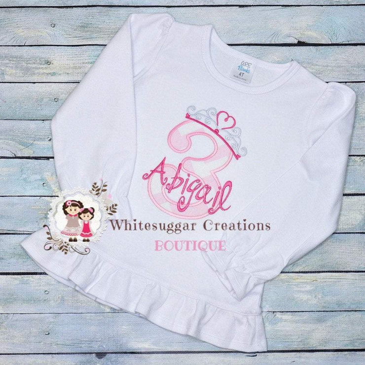 Tiara Birthday Girl Shirt Whitesuggar Creations Boutique
