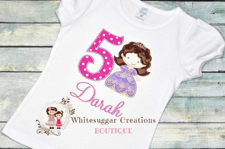 Girl Princess Sofia Birthday Shirt Whitesuggar Creations Boutique