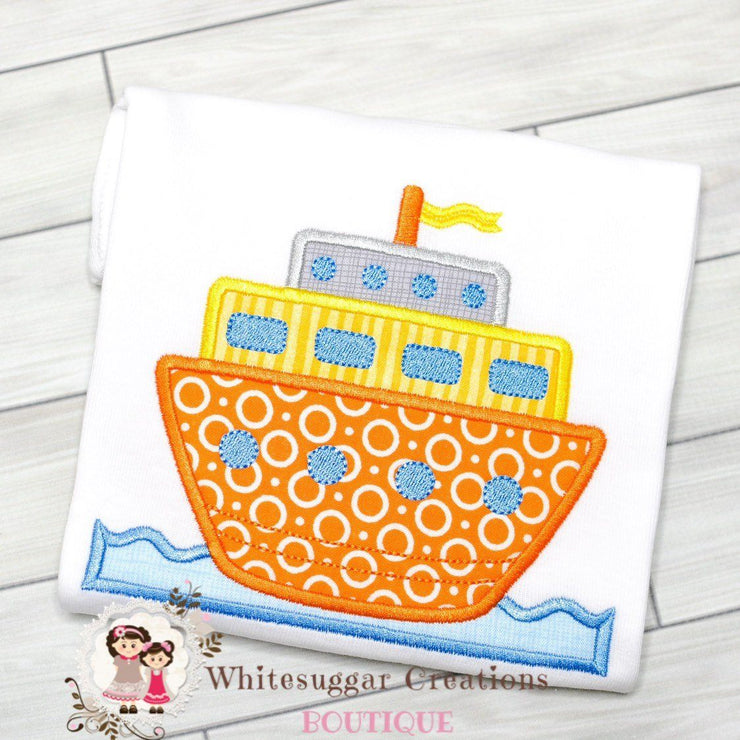 Cruise Ship T-Shirt Whitesuggar Creations Boutique