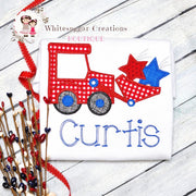 Patriotic Tractor with Stars Shirt Whitesuggar Creations Boutique