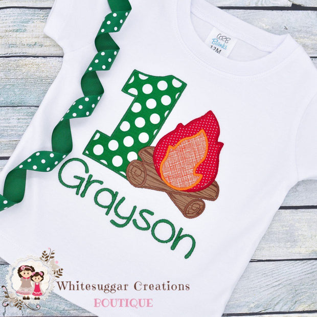 Camping Birthday Boy Shirt Whitesuggar Creations Boutique