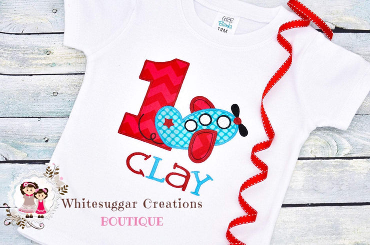 Plane Birthday Shirt Whitesuggar Creations Boutique