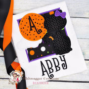 Halloween Black Cat Shirt for Girls Whitesuggar Creations Boutique