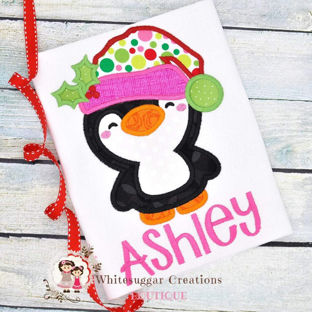 Christmas Penguin Shirt Whitesuggar Creations Boutique