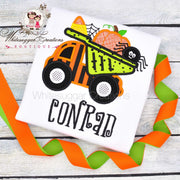 Pumpkin and Spider Truck Outfit Whitesuggar Creations Boutique