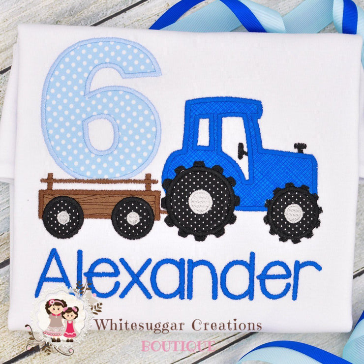 Tractor Birthday Shirt Whitesuggar Creations Boutique