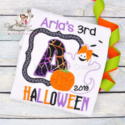 Halloween Ghost Frame Shirt for Girls Whitesuggar Creations Boutique