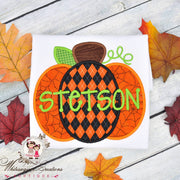 Monogrammed Halloween Pumpkin Boy Shirt Whitesuggar Creations Boutique