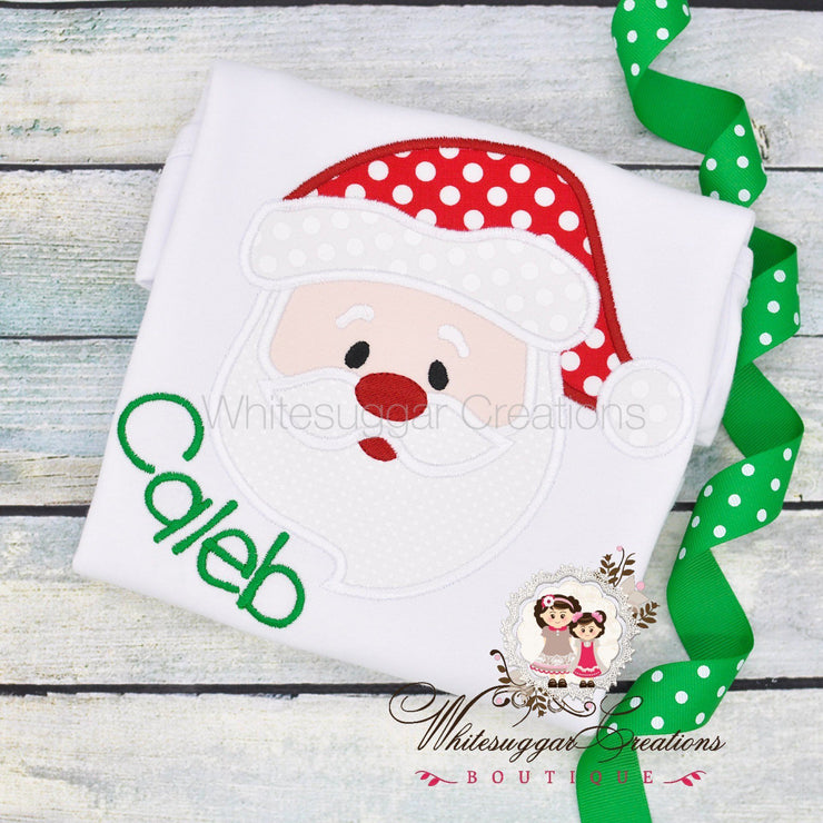 Christmas Santa Shirt Whitesuggar Creations Boutique