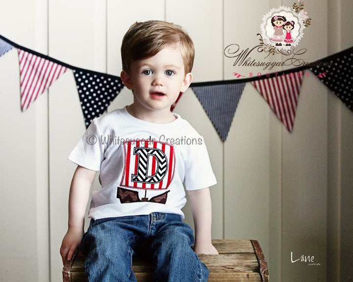 Boy Pirate Birthday Shirt