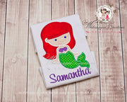 Princess Little Mermaid Shirt Whitesuggar Creations
