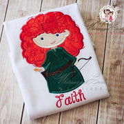 Brave Princess Shirt Girls Shirt Whitesuggar Creations