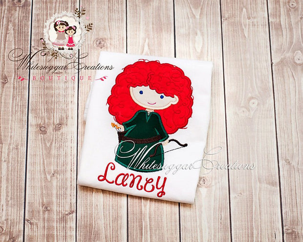 Archer Girl Cutie Personalized Shirt - Brave Princess Outfit - Whitesuggar Creations Boutique