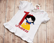 Snow White Princess Birthday Shirt Whitesuggar Creations