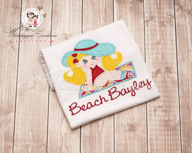 Beach Girl Embroidered Shirt - Whitesuggar Creations Boutique