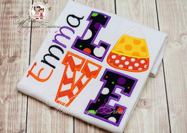 Candy Corn Love Shirt Whitesuggar Creations Boutique